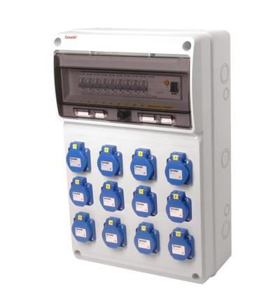 FAMATEL v792 - ZSF120000000.1 /3952 zásuvková skříň IP54 jištěná s chráničem 40/4/003 v792