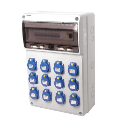 FAMATEL v795 - ZSF120000000.1 /3952 zásuvková skříň IP54 jištěná s chráničem 40/4/003 v795