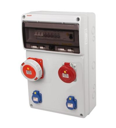 FAMATEL v815 - ZSF20100010.1 /3952 zásuvková skříň IP54 jištěná s chráničem 63/4/003 v815