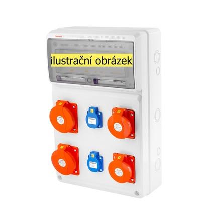 FAMATEL v837 - ZSF20202000.V /3952 zásuvková skříň IP44 pouze vydrátovaná v837