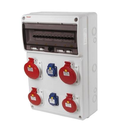 FAMATEL v839-6kA - ZSF20202000.0 /3952 zásuvková skříň IP44 jištěná bez chrániče v839-6kA