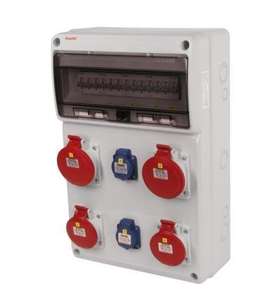 FAMATEL v839 - ZSF20202000.0 /3952 zásuvková skříň IP44 jištěná bez chrániče v839