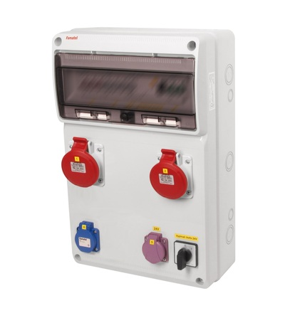 FAMATEL v894 - ZSFT11200000.1 /3952 zásuvková skříň IP44 jištěná s chráničem 40/4/003 v894