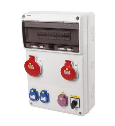 FAMATEL v905 - ZSFT21101000.0 /3952 zásuvková skříň IP44 jištěná bez chrániče v905