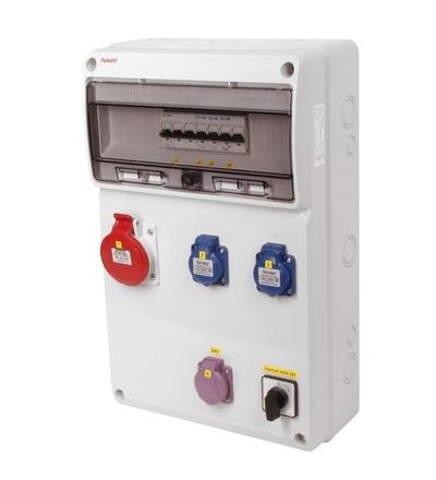 FAMATEL v915-6kA - ZSFT21100000.0 /3952 zásuvková skříň IP44 jištěná bez chrániče v915-6kA