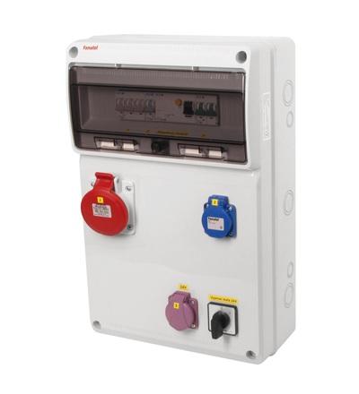 FAMATEL v915 - ZSFT21100000.0 /3952 zásuvková skříň IP44 jištěná bez chrániče v915