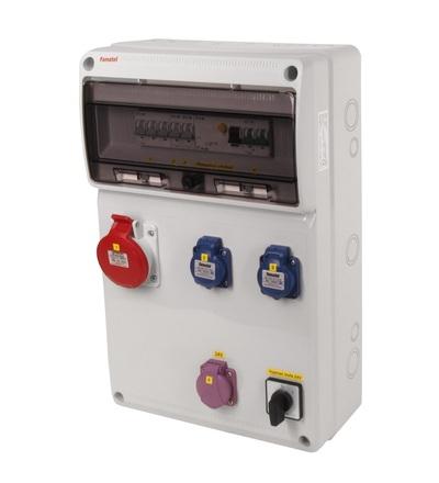 FAMATEL v920 - ZSFT21100000.1 /3952 zásuvková skříň IP44 jištěná s chráničem 40/4/003 v920