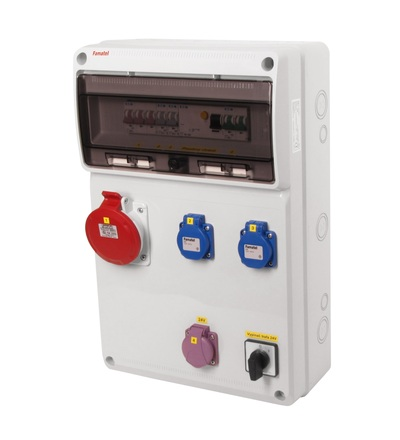 FAMATEL v930 - ZSFT21001000.1 /3952 zásuvková skříň IP44 jištěná s chráničem 40/4/003 v930