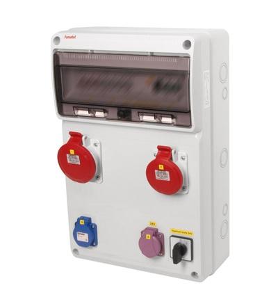 FAMATEL v945 - ZSFT11101000.0 /3952 zásuvková skříň IP44 jištěná bez chrániče v945