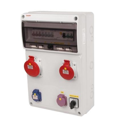 FAMATEL v948-6kA - ZSFT11101000.1 /3952 zásuvková skříň IP44 jištěná s chráničem 40/4/003 v948-6kA