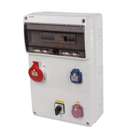 FAMATEL v955 - ZSFT11100000.1 /3952 zásuvková skříň IP44 jištěná s chráničem 40/4/003 v955