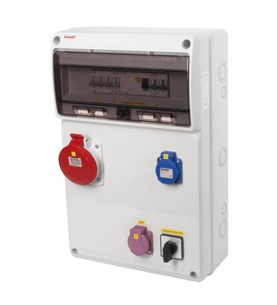 FAMATEL v965 - ZSFT11001000.1 /3952 zásuvková skříň IP44 jištěná s chráničem 40/4/003 v965