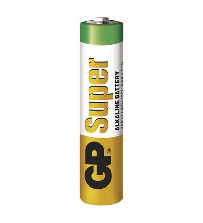 Alkalická baterie GP Super AAA (LR03) B1310S2