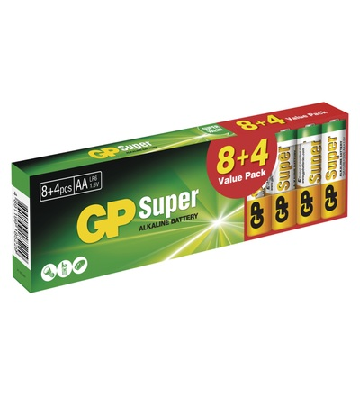 Alkalická baterie GP Super AA (LR6) B1320T