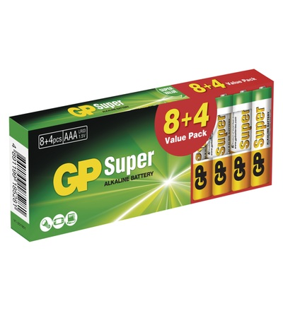 Alkalická baterie GP Super AAA (LR03) B1310T