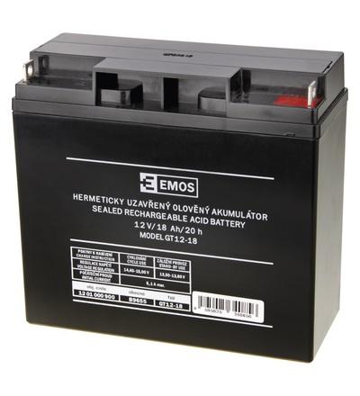 Emos Bezúdržbový olověný akumulátor 12 V/18 Ah B9655