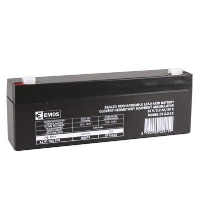 Emos Bezúdržbový olověný akumulátor 12 V/2,2 Ah, faston 4,7 mm B9672