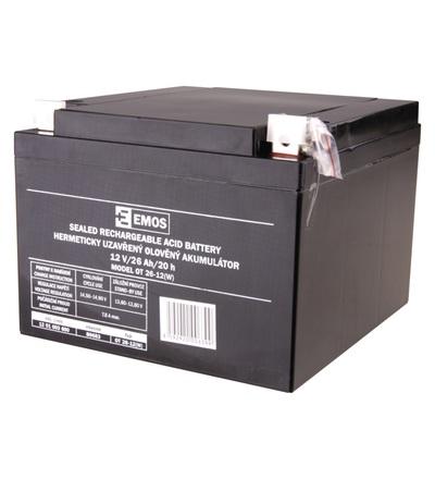 Emos Bezúdržbový olověný akumulátor 12 V/26 Ah L2 B9683