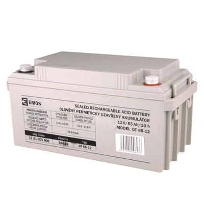 Emos Bezúdržbový olověný akumulátor 12 V/65 Ah M8 B9685