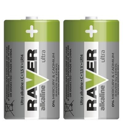 Alkalická baterie RAVER C (LR14) B7931