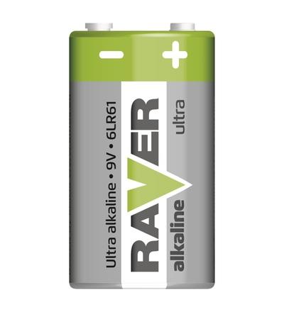 Alkalická baterie RAVER 9V (6LF22) B7951