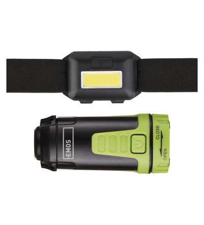 Emos Sada LED čelovky a kempingové LED svítilny P4007