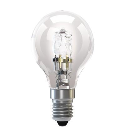 Halogenová žárovka ECO Mini Globe 18W E14 teplá bílá, stmív. ZE1011