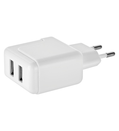 Emos Duální USB adaptér do sítě + micro USB kabel + USB-C redukce V0119