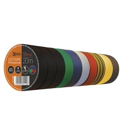 Emos Izolační páska PVC 19mm / 20m barevný mix F61999