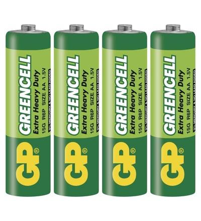 Zinková baterie GP Greencell AA (R6) B1220