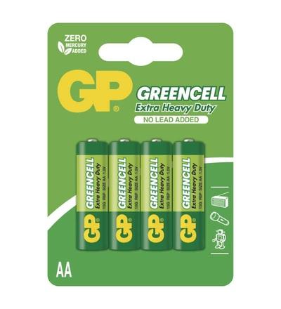 Zinková baterie GP Greencell AA (R6) B1221