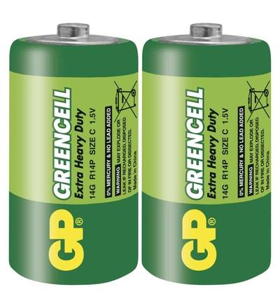 Zinková baterie GP Greencell C (R14) B1230