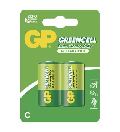 Zinková baterie GP Greencell C (R14) B1231