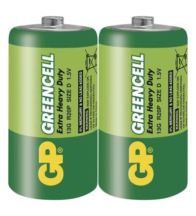 Zinková baterie GP Greencell D (R20) B1240