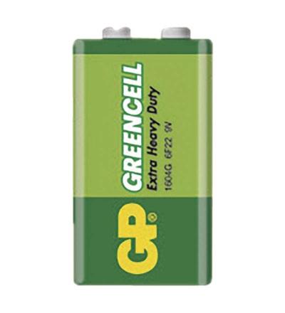 Zinková baterie GP Greencell 9V (6F22) B1250