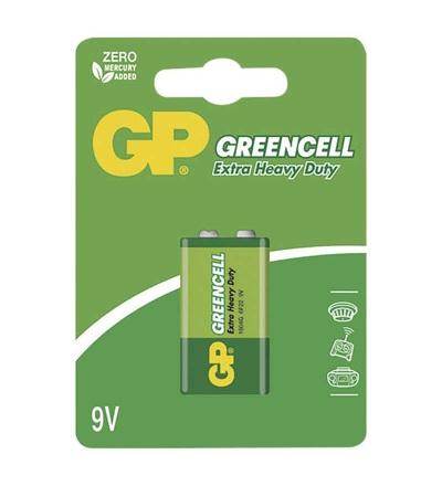 Zinková baterie GP Greencell 9V (6F22) B1251