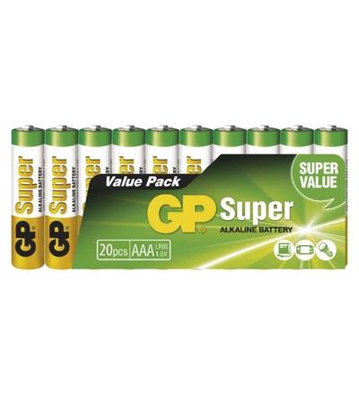 Alkalická baterie GP Super AAA (LR03) B1310L