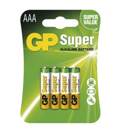 Alkalická baterie GP Super AAA (LR03) B1311