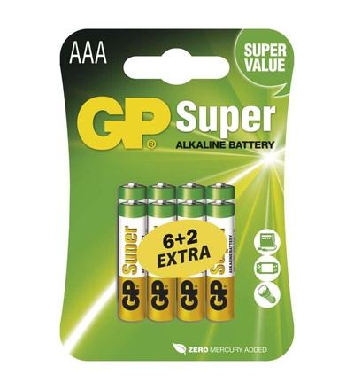 Alkalická baterie GP Super AAA (LR03) B13118