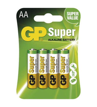 Alkalická baterie GP Super AA (LR6) B1321