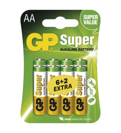 Alkalická baterie GP Super AA (LR6) B13218