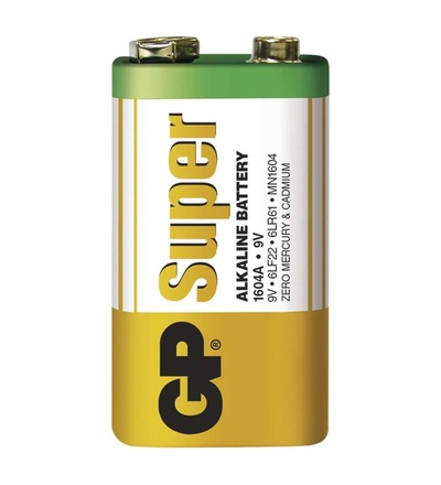 Alkalická baterie GP Super 9V (6LF22) B1350