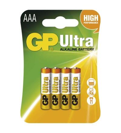 Alkalická baterie GP Ultra AAA (LR03) B1911