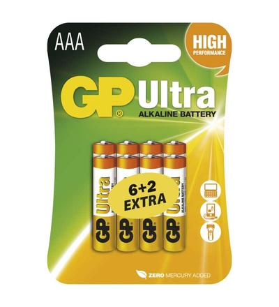 Alkalická baterie GP Ultra AAA (LR03) B19118