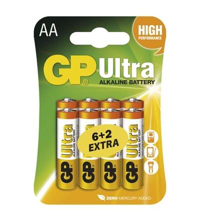 Alkalická baterie GP Ultra AA (LR6) B19218