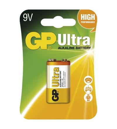 Alkalická baterie GP Ultra 9V (6LF22) B1951