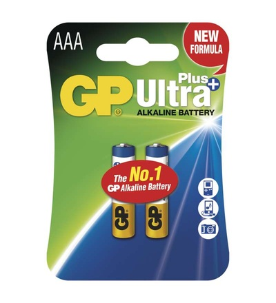 Alkalická baterie GP Ultra Plus AAA (LR03) B17112