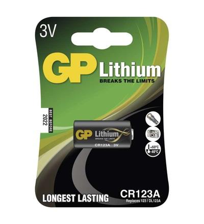 Lithiová baterie GP CR123A B1501