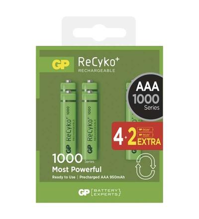 Nabíjecí baterie GP ReCyko+ 1000 (AAA) B1411V