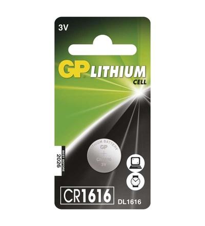 Lithiová knoflíková baterie GP CR1616 B15601